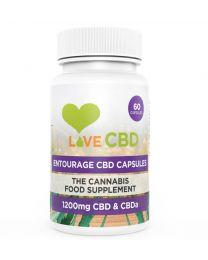 LOVE CBD - 1200mg CBD Entourage Capsules – 60 x 20mg CBD Capsules