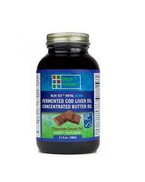 Green Pasture - BLUE ICE™ Royal Butter Oil / Fermented Cod Liver Oil Blend - Chocolate Cream 240ml