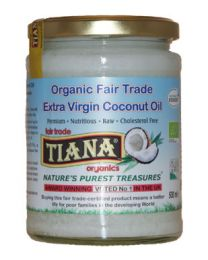250g Tiana Organic Coconut Oil (coconut butter) High Omega 3 with hempseed oil