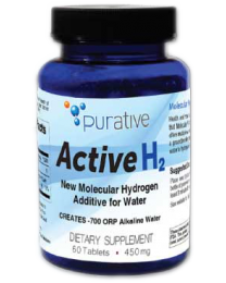 Purative Active H2 (60 tablets) - All Natural Hydrogen Antioxidant Tablets (molecular hydrogen)