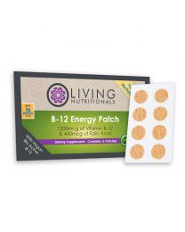 Living Nutritionals Vitamin B12 Patches (16 patches - 100% Vegan Methylcobalamin)