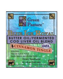 Green Pasture - BLUE ICE™ Royal Butter Oil / Fermented Cod Liver Oil Blend - Cinnamon Tingle 240ml