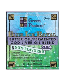 Green Pasture - BLUE ICE™ Royal Butter Oil / Fermented Cod Liver Oil Blend - Non-Flavored 240ml