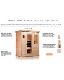 Essential Clearlight CE-3 (Three Person Nordic Spruce Far Infrared Sauna - Low EMF)