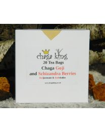 Wild Chaga King - Chaga Goji and Schizandra Berry - Teabags (20) (100% British Wild Chaga)