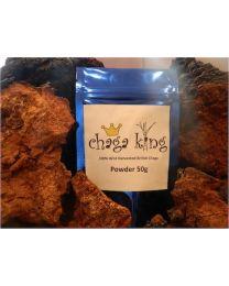 Wild Chaga King Powder 50g (100% British Wild Chaga Powder)