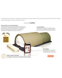 Clearlight Curve (Organic Hemp Sauna Dome & Memory Foam Infrared Pad - Low EMF)