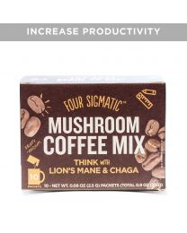 Four Sigma Foods - Mushroom Coffee with Lions Mane & Chaga 10 Sachets