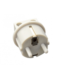 White Earthing connection plug (EU)