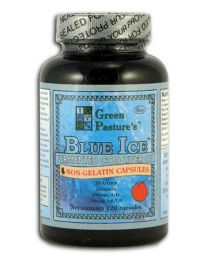 Green Pasture - BLUE ICE™ Fermented Cod Liver Oil - Non-Gel Caps Orange 120 Capsules