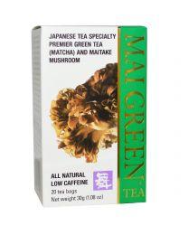 Grifron Maitake, Mai Green Tea, 20 Tea Bags, 1.08 oz (30 g)