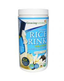 Growing Naturals, Organic Rice Milk Drink + Protein, Powder, Creamy Vanilla, 15.2 oz (432 g)