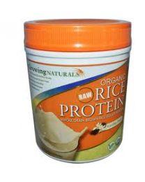 Growing Naturals Organic Rice Protein Isolate Powder Vanilla Blast (930g)