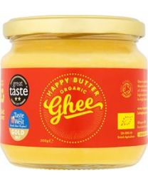 Happy Butter - Cultured Organic Ghee 300g Jar
