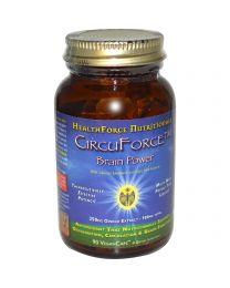 HealthForce Nutritionals, CircuForce, Brain Power, (Siberian Ginseng, Gotu Kola, Gingko Biloba) 90 VeganCaps