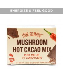 Four Sigma Foods - Mushroom Hot Cacao Mix with Cordyceps 10 Sachets