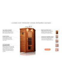 Clearlight IS-1 (One Person Cedar Far Infrared Sauna - Low EMF)