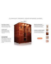 Clearlight IS-3 (Three Person Cedar Far Infrared Sauna - Low EMF)