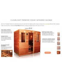 Clearlight IS-5 (Five Person Cedar Far Infrared Sauna - Low EMF)