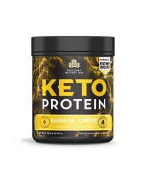 Ancient Nutrition Keto Protein, Banana Cream (540g) (powered by bone broth)
