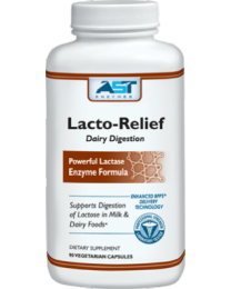 AST Enzymes Lacto-Relief - Milk & Cheese Digestion (90 vegicaps)