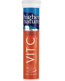 Higher Nature Fizzy Vitamin C 1000mg (20 tablets)