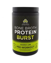 Bone Broth Protein Burst, Pre-Workout, Coconut Lime, 11.6 oz (330 g)