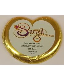 Sacred Chcolate Longevity Bliss 15MG Hops Extract - 1.44oz Heart Bar