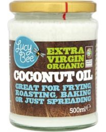 Lucy Bee 500ml Extra Virgin Organic Coconut Oil