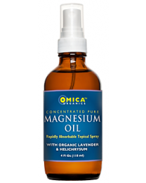 Omica Organics Magnesium Oil Topical Spray with Organic Lavender and Helichrysum (4 fl. oz)