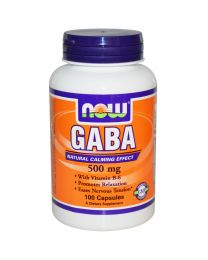 Now Foods, GABA, 500 mg, 100 Capsules
