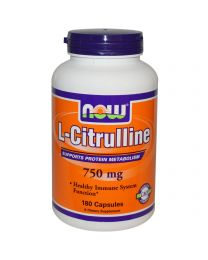 Now Foods, L-Citrulline, 750 mg, 180 Capsules
