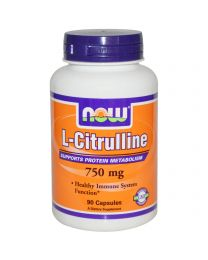 Now Foods, L-Citrulline, 750 mg, 90 Capsules