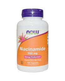 Now Foods, Niacinamide, 500 mg, 100 Capsules