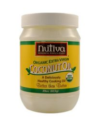 Nutiva's Extra Virgin Raw Coconut Oil 29 fl oz (823g)
