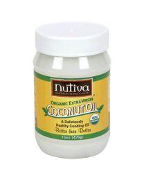 Nutiva's Extra Virgin Raw Coconut Oil 15 fl oz (444ml)