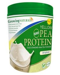 Growing Naturals Pea Protein Original Flavor 1lb Canister (465g)
