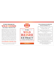 (1:1 Dual Extraction Tincture) Wild Reishi Extract 60ml / 2floz (Lion Heart Herbs)