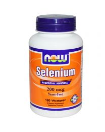 Now Foods, Selenium, Essential Mineral, 200 mcg, 180 Vcaps