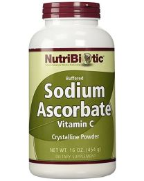 NutriBiotic, Sodium Ascorbate (Vitamin C), Crystalline Powder, 16 oz (454 g)