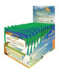 Growing Naturals 408g Rice Protein Isolate Powder Vanilla Blast 12 Packets (34g each)