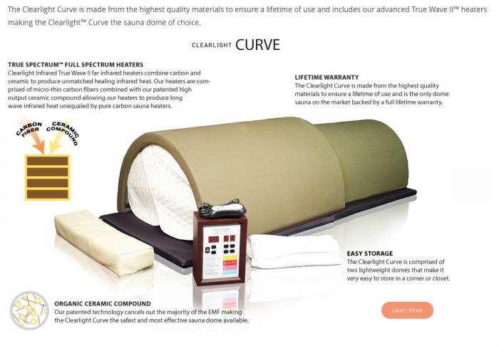 Image result for clearlight dome infrared saunas