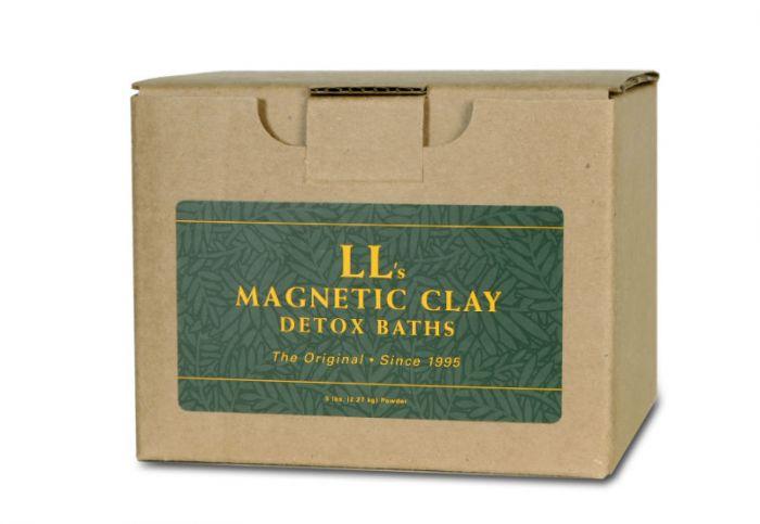LL's Magnetic Clay Bath - Radiation Detox Clay Bath Kit - 5lb